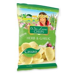 Wai Lana Chips Herb Garlic (40x1Oz)
