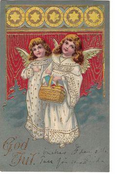 Divided Back Postcard Christmas Greetings Angels Best Christmas Wishes, Merry Christmas Greetings, Merry Christmas To You, Silver Christmas, Vintage Christmas Cards, Christmas Angels, Vintage Cards, Christmas Fun, Christmas Decorations
