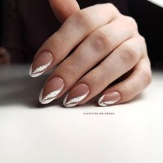 Nail Art Designs and Ideas 2019 - NailGet - Get The Best Nail Designs nageldesign 2019 Nail Art Designs and Ideas 2020 French Nails, French Manicure Nails, Gel Nails, Bridal Nails French, Bridal Nails Designs, Bridal Nail Art, Bride Nails, Wedding Nails, French Nail Designs