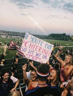 VSCO - 1000 republishes wooowww thank ya sadielswift School Spirit Posters, School Spirit Days, Cheer Posters, Highschool Football, High School Football Games, School Sports, Hs Football, Football Spirit, Football Signs