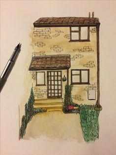 House portrait! Watercolour and ink