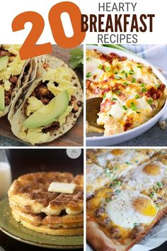 Start your day off right with a filling and hearty breakfast. Choose from 20 recipe ideas that will definitely turn you into a morning person. #thecraftyblogstalker #breakfastrecipes #heartybreakfastrecipes #breakfastideas Jello Recipes, Popcorn Recipes, Snack Recipes, Dessert Recipes, Bacon Egg Bake, Tater Tot Breakfast, Bread Maker Recipes, Oreo Dessert, Morning Person