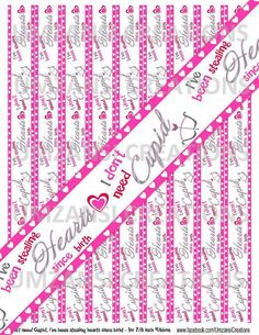 DIY I don't need Cupid Printable 7/8 Ribbon Iron On by MaddieZee, $1.50