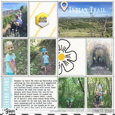 digital scrapbook layout created with TGIF kit and journal cards by Just Jaimee