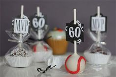 Most Valuable 60-Year-Old White Sox Fan's Birthday Cake Pops!