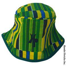 OOAK African Kente Unisex Bucket Hat  Ethnic by HamletPericlesInc   African Kente Unisex Bucket Hat by Hamlet by Hamlet Pericles, Inc.   #HamletPericlesInc #HamletPericlesFashion #Hamlet #Pericles #Africa #African #Kente #BucketHat #BucketHats #Hats #Embroidery #Etsy #EtsySeller #OOAK #OneOfAKind #Unique #Novelty #GreenAndYellow #Headwear #YellowAndGreen #Green #Yellow #Blue #AfricanFashion #Accessory