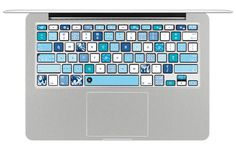 Washi Ocean - Decal Keyboard Sticker for Macbook Mac Lenovo Asus Sony Dell HP Acer Samsung Toshiba Galaxy Washi Tape Inspired Sea Blue