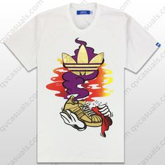 adidas Originals Mens The Sneaker Genie Trefoil T-Shirt Z34877 at QV casuals. Save on a huge range of t shirts.