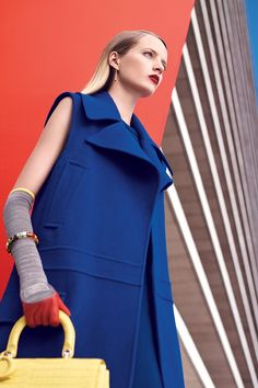 This fall's color palette is BRIGHT; see the full fashion shoot here.