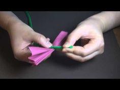 Tissue Paper Flower Rose - YouTube