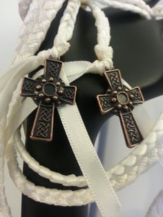 Celtic Copper Cross Wedding Hand Fasting/ Binding by DivinityBraid