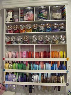 ribbon organizer tutorial craft-ideas