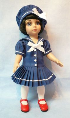 """Sailor Ahoy Outfit for 10"""" Tonner Patsy Doll by Apple"""