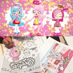 Super cute Shoppies chef club colouring #shoppies #colouring #happy #kid #activity #art #creative #fun ##shopkins