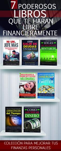 GUARDA Y COMPARTE ESTE PIN.Los mejores libros de finanzas personales. Los libros mas vendidos,como ganar dinero, libertad financiera, libros recomendados, emprendedor, Libros buenos de autoayuda, educacion financiera, éxito,y motivación, Negocio, Ingresos