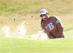 South Korea's Inbee Park plays her shot from the bunker at the 18th green during the Final day of the Women's British Open golf championship at the Royal Birkdale Golf Club, in Southport, England, Sunday, July 13, 2014. (AP Photo/Scott Heppell) ▼13Jul2014AP|Mo Martin, with eagle on 18, wins Women's British http://bigstory.ap.org/article/mo-martin-eagle-18-wins-womens-british #Womens_British_Open_2014 #Inbee_Park
