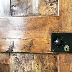 Dark waxed beautiful old doors in my Shropshire Farmhouse.