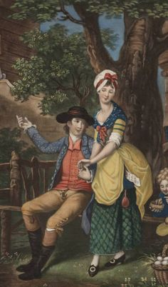 Looks for the Lower Sorts/Golden Scissors Historical Art, Historical Costume, Historical Clothing, 18th Century Clothing, 18th Century Fashion, 19th Century, Art Corner, Fashion Painting, Life Pictures