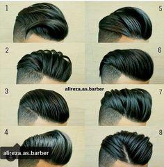 48 Ideas for hair men barber beard styles Mens Hairstyles Pompadour, Latest Hairstyles, Hairstyles Haircuts, Haircuts For Men, Cool Hairstyles, Classic Mens Hairstyles, Bart Tattoo, Hair And Beard Styles, Short Hair Styles