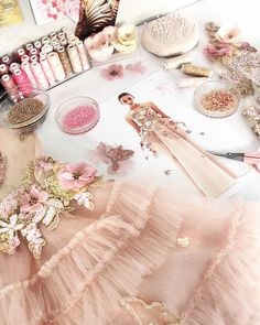Embroidery Fashion, Beaded Embroidery, Girls Party Dress, Baby Dress, Diy Fashion, Fashion Dresses, Fashion Design, Little Girl Dresses, Girls Dresses