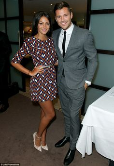 Perfect couple? We think so! Michelle Keegan shows off her petite legs in this mini dress. We love!