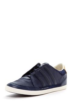 Navy Leather and Nylon Sneakers, by Yohji Yamamoto for Adidas. Men's Fall Winter Fashion.