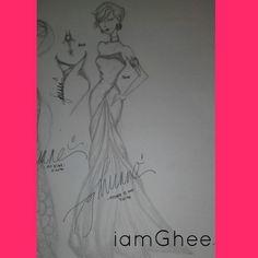3rd design #iamgheeSketchandStyle