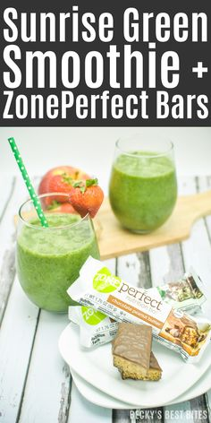 Sunrise Green Smoothie + ZonePerfect Bars Perfect pair to give an energizing power punch to fuel any morning routine! http://www.beckysbestbites.com/sunrise-green-smoothie-zoneperfect-bars/?utm_campaign=coschedule&utm_source=pinterest&utm_medium=Becky%27s%20Best%20Bites&utm_content=Sunrise%20Green%20Smoothie%20%2B%20ZonePerfect%20Bars #ad #healthybreakfast