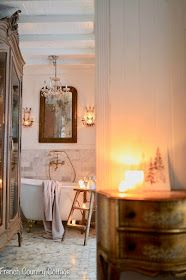 Inspiration- a Vintage Step Ladder in the bathroom - I was minding my own business while at a book singing recently when I bumped into something that had to come home with me. French Country Cottage, French Country Style, French Country Decorating, Modern Country, Cottage Style, Vintage Ladder, Amazing Bathrooms, Dream Bathrooms, Decor Styles