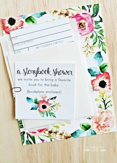 Free printable storybook baby shower invitations & library card inserts | MyFabulessLife.com