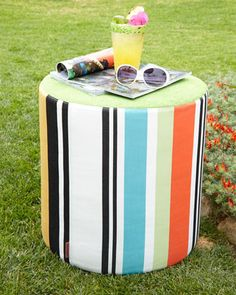 Olivan Stripe Pouf by Missoni Home Collection at Horchow. Keep Your iPad dry at the Pool - try a suction-mount, waterproof Splashtablet iPad Case.  Free Shipping! Under $40. On Amazon. Great Reviews
