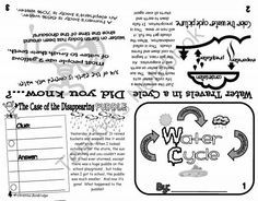 Water Cycle Flippy Book from Mrs. Bainbridge's Shop on TeachersNotebook.com (1 page)