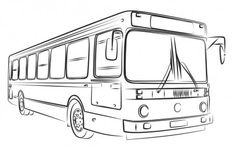 Illustration about A sketch of a large passenger bus. Illustration of service, drawing, urban - 89750210 Perspective Drawing Lessons, One Point Perspective, Perspective Photography, Cool Art Drawings, Car Drawings, Plane Drawing, Car Drawing Easy, Bus Art, Urban Sketching
