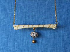 Primitive Gold Wrapped Bone Necklace by Bohemisk on Etsy #bone #taxidermy #necklace #voodoo #gold #boho #natural