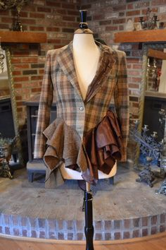 love this upcycled wool jacket