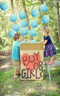 LOVE this idea to announce the baby's gender! This is such a cute idea