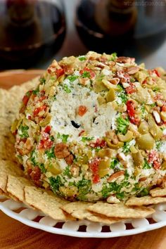 This Olive Cheeseball is insanely good! It is absolutely perfect for bringing to parties and having at get togethers!