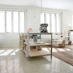 #kitchen #floor #tiling with hexagonal #tiles. I love the combination with the wooden floor. #tileaddiction #tiled #handmadetile #interior #interiors #interiordesigner #interiordesign #instahome #idcdesigners #architecture #homedesign #homedecor #dsfloors #residential #designer #design #floors #flooring #floortiles by karak_tiles
