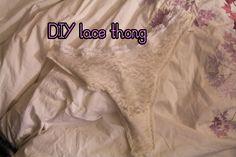 How to make a lace thong| DIY thong