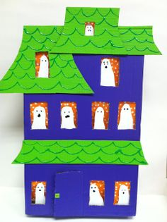 Love this prop for Ten Timid Ghosts for Halloween Storytime via Read, Sarah, Read!
