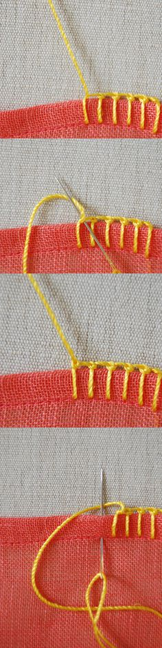 Knotted blanket stitch.