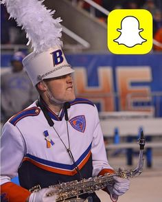 """Be a part of the #BoiseState game through the eyes of the Band!! Follow them . #GoBroncos!  #Repost @bsubluethunder Back by popular demand Snapchat! You know the drill follow us: """"bsubluethunder""""! There will be lots of game day activity!"""