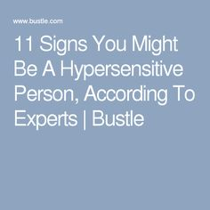 Hypersensitive personality