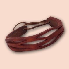 Handmade Leather Bracelet Agnes 002 Red by snis on Etsy, $15.00
