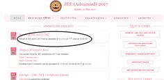 IIT JEE Advance Result will be Declared on 11 June 2017