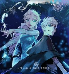 Jelsa, Jack Frost, Elsa, Frozen, Rise of the Guardians