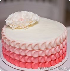 pink petal cake let-them-eat-cake Pretty Cakes, Cute Cakes, Beautiful Cakes, Amazing Cakes, Cake Decorating Techniques, Cake Decorating Tips, Cookie Decorating, Cake Pink, 1st Bday Cake