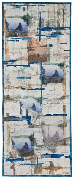 """Boundary Waters 60 (Rock Time), 60 x 24"""", by Virginia Spiegel  