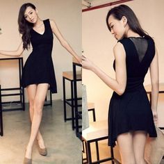 Short V Back Cut Out Dress - $19.35 on @ClozetteCo