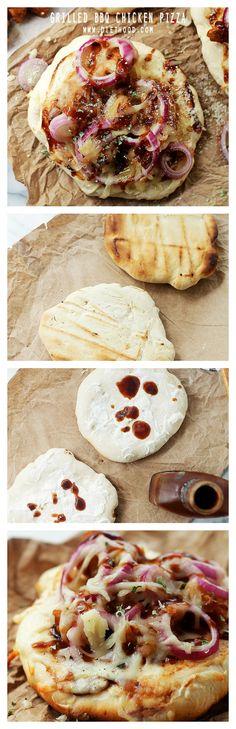 Grilled BBQ Chicken Pizza | www.diethood.com | BBQ Chicken Pizza, GRILLED! Like, baked on the grill... SO GOOD! | #grilling #pizza #recipes